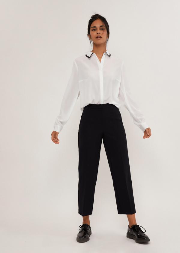Блузка с контрастным воротником - фото 5