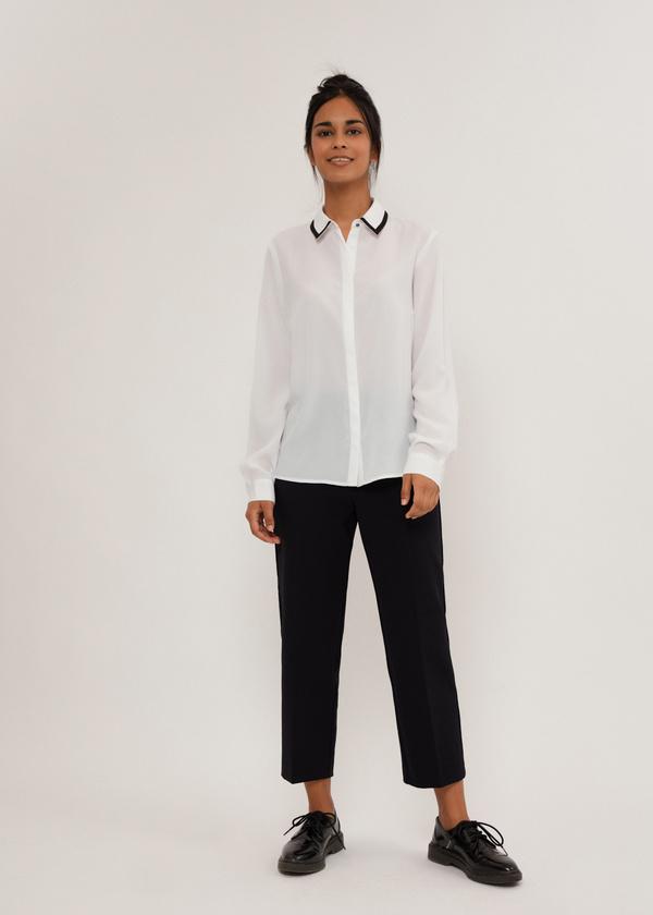 Блузка с контрастным воротником - фото 6