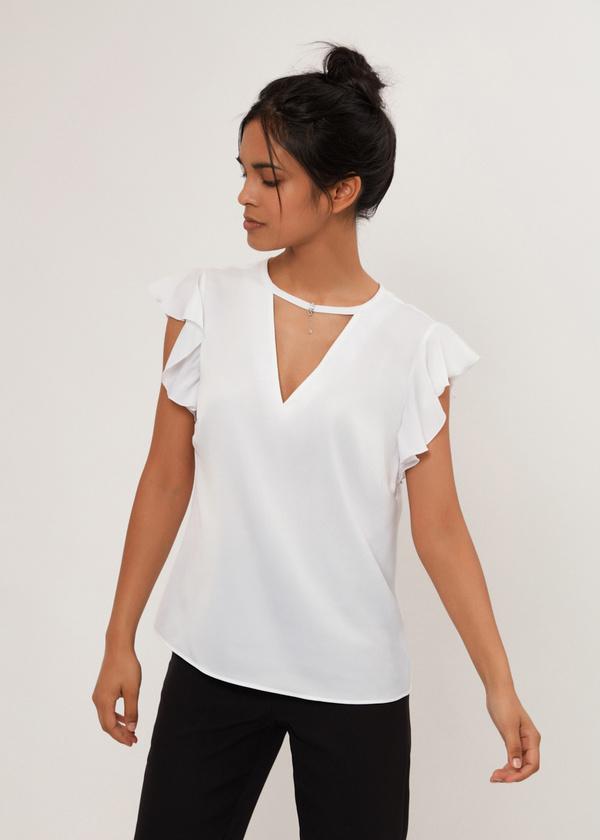 Блузка с рукавами крылышками - фото 2