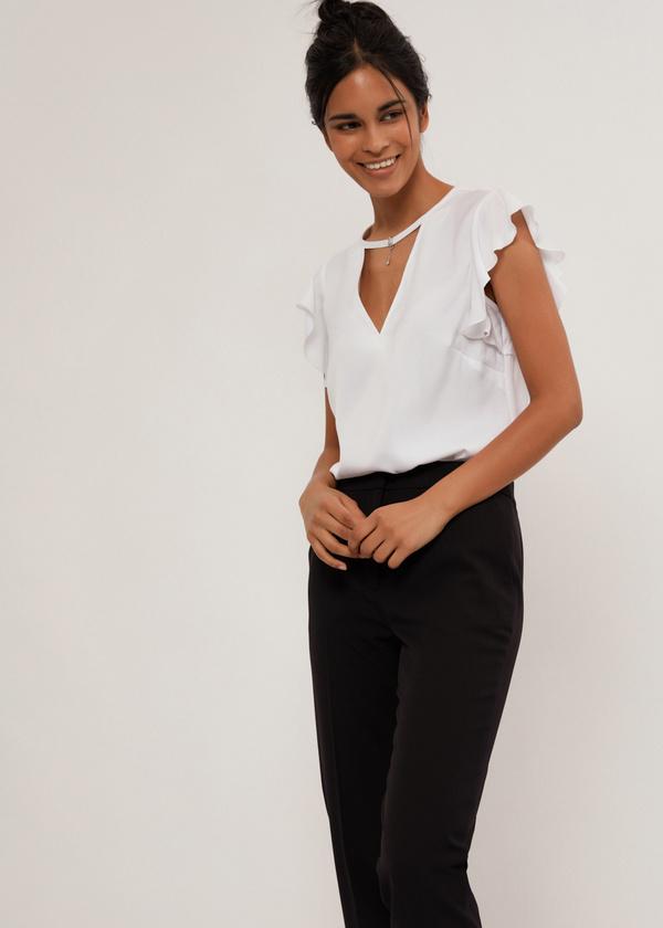 Блузка с рукавами крылышками - фото 5