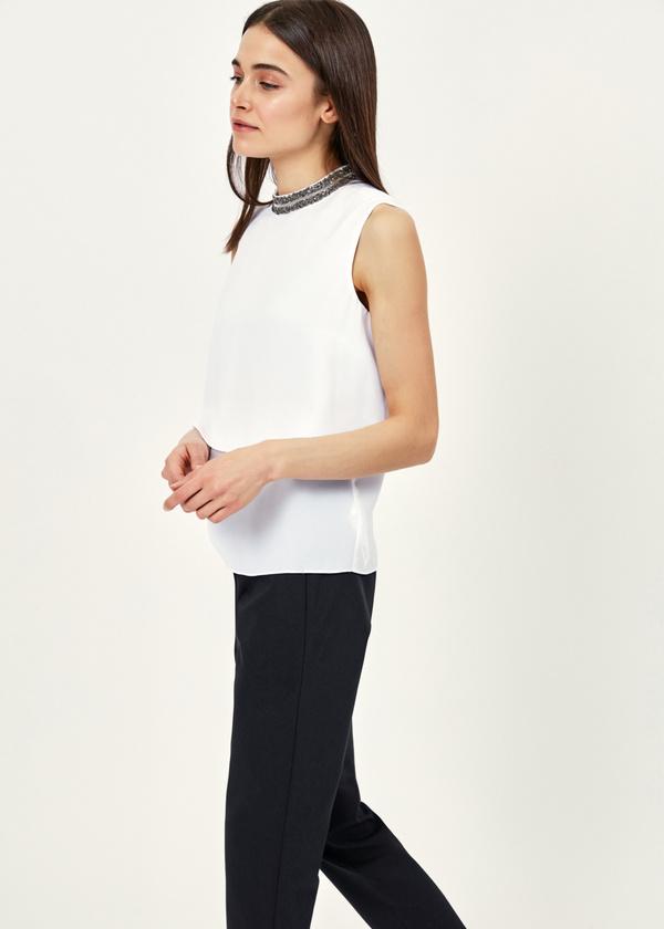 Двухярусная блузка с бисером - фото 5