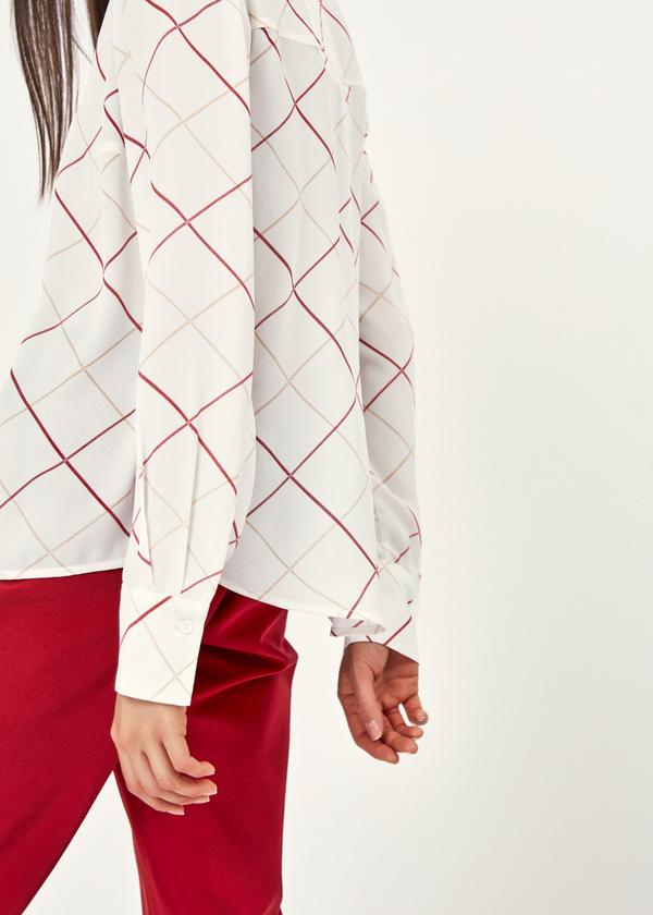 Блузка в крупную клетку - фото 2
