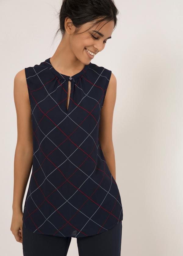 Легкая блуза с застежкой капелька - фото 1