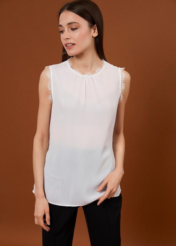 Блузка с кружевом - фото 2