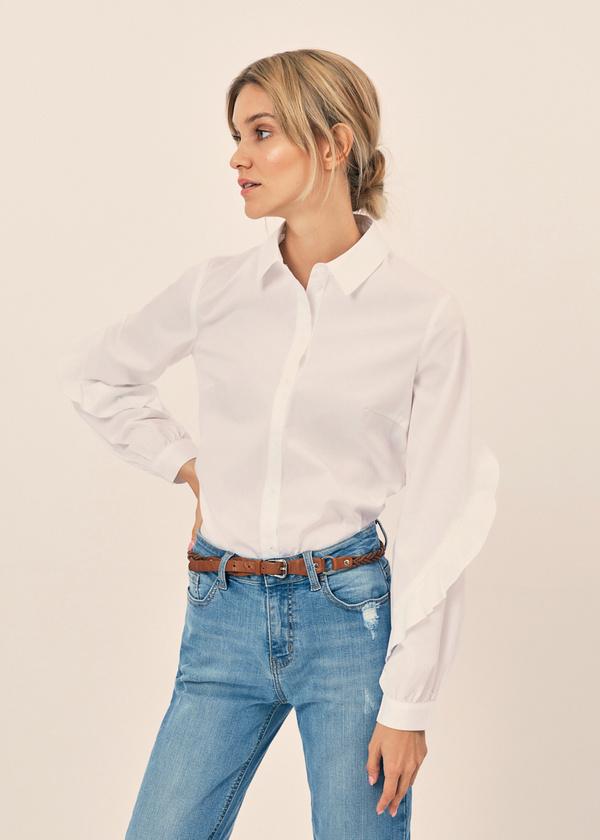 Блузка с воланами на рукавах - фото 1