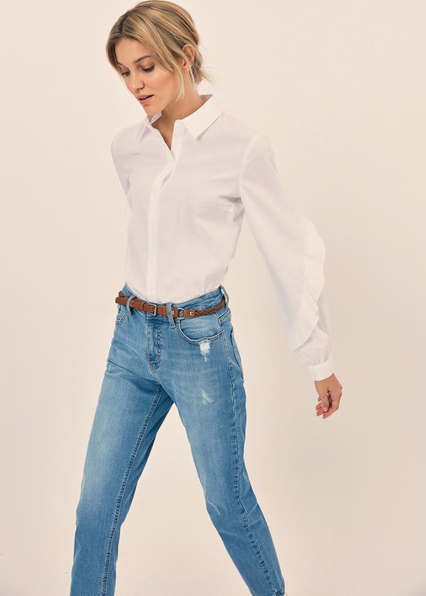 Блузка с воланами на рукавах - фото 2
