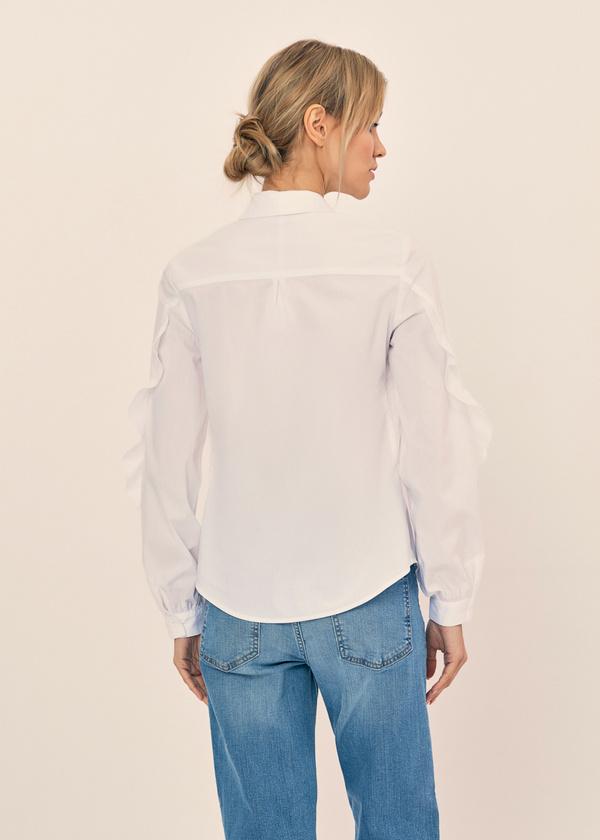 Блузка с воланами на рукавах - фото 3