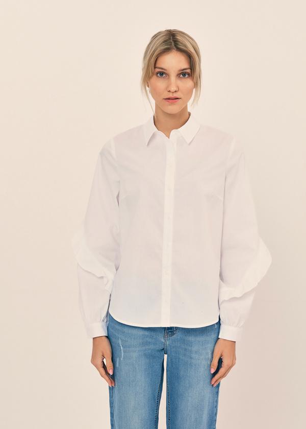 Блузка с воланами на рукавах - фото 4