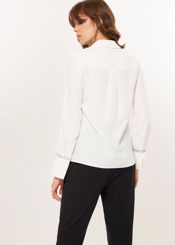 Блузка с декорированными манжетами - фото 3