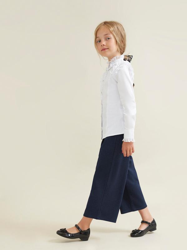 Блузка для девочек с воротником-стойка - фото 5