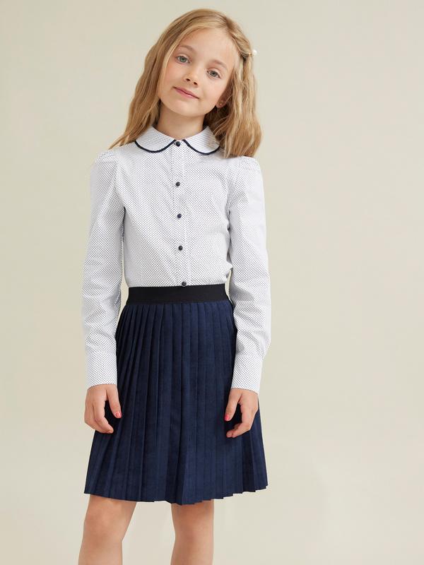 Блузка для девочек с декорированными пуговицами - фото 1