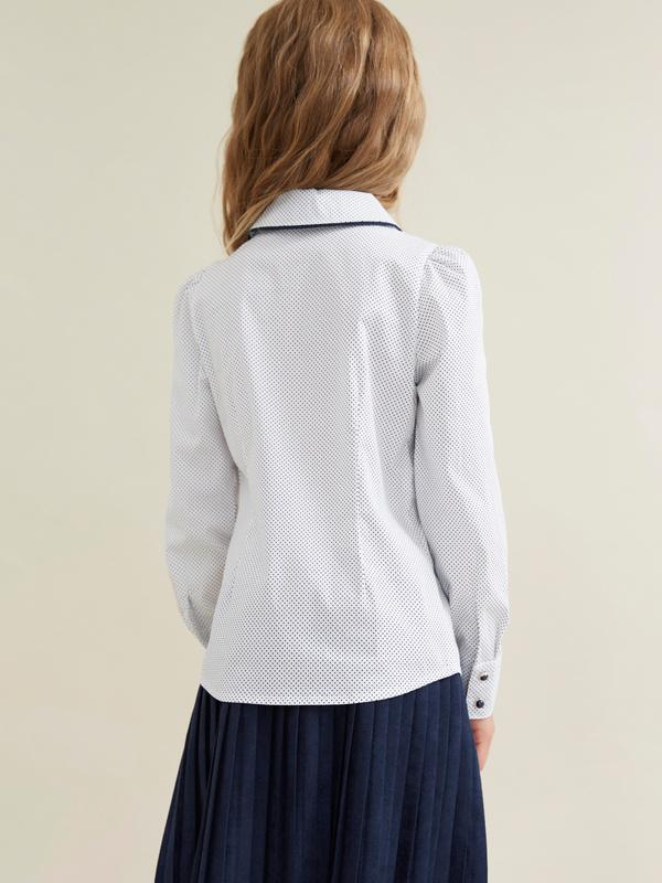 Блузка для девочек с декорированными пуговицами - фото 3