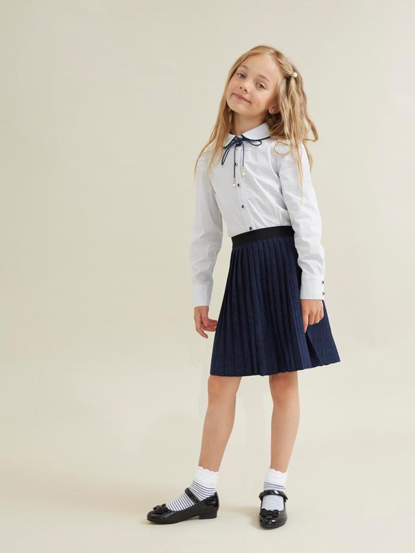 Блузка для девочек с декорированными пуговицами - фото 4