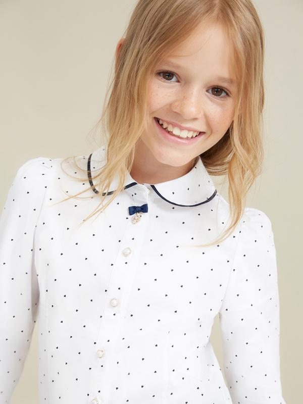 Блузка для девочек с декорированными пуговицами - фото 2