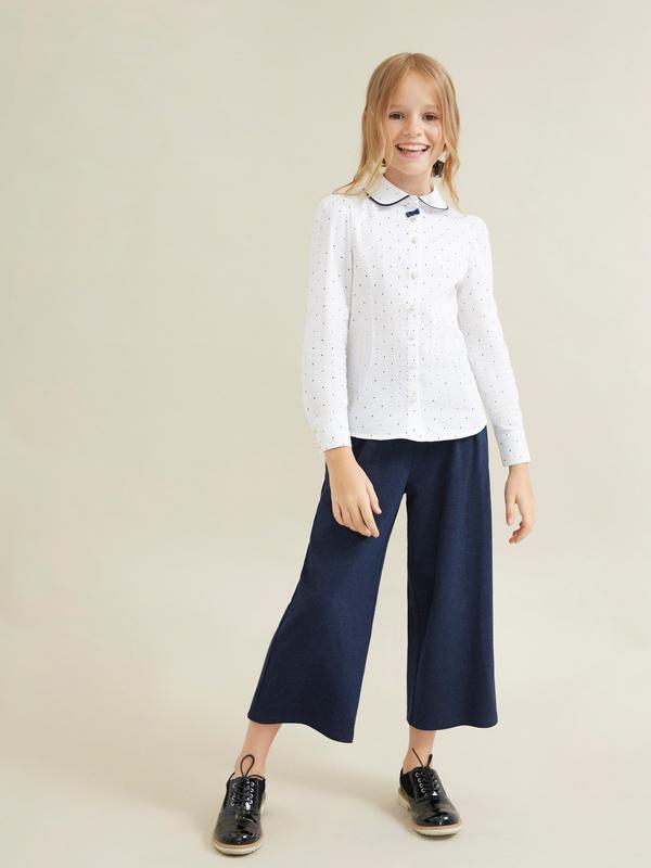 Блузка для девочек с декорированными пуговицами - фото 5