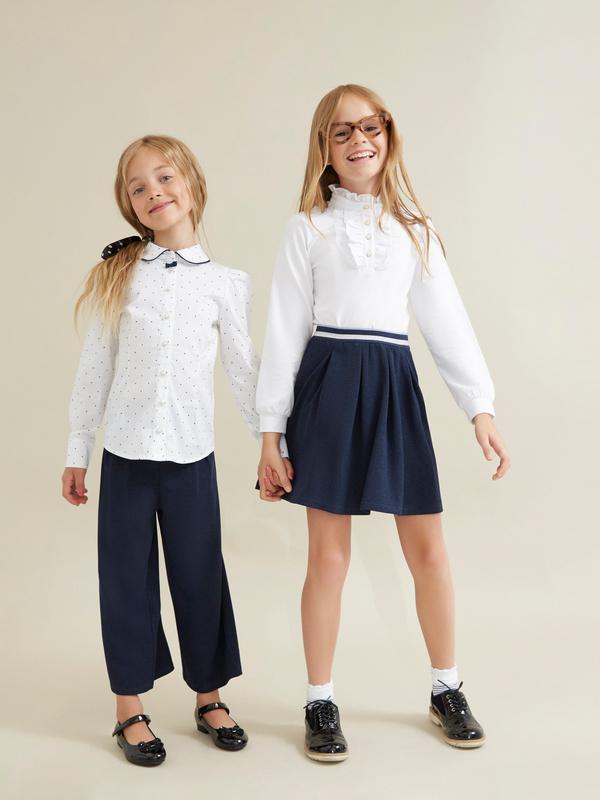 Блузка для девочек с декорированными пуговицами - фото 6
