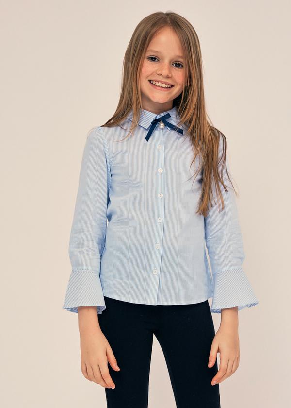 Блузка с воланами на рукавах 100% хлопок - фото 1