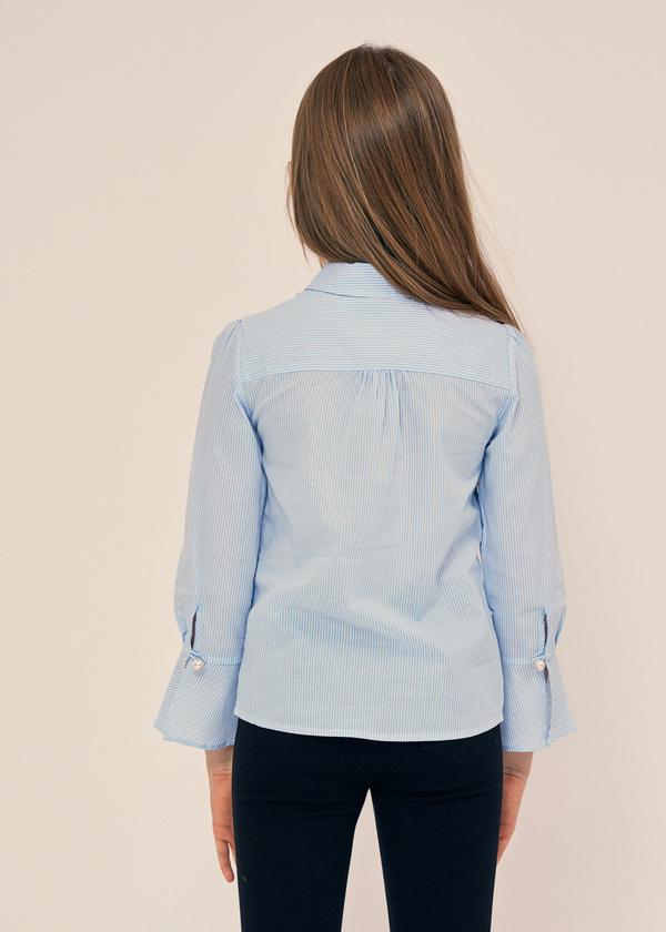 Блузка с воланами на рукавах 100% хлопок - фото 2