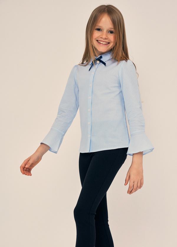 Блузка с воланами на рукавах 100% хлопок - фото 3