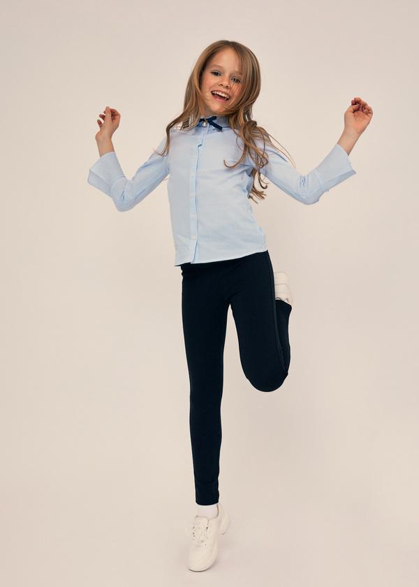 Блузка с воланами на рукавах 100% хлопок - фото 5