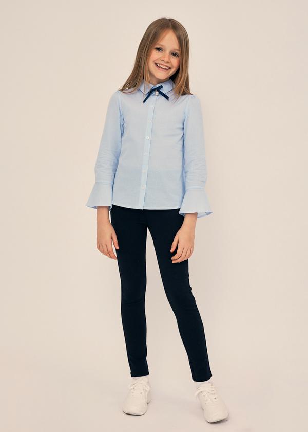 Блузка с воланами на рукавах 100% хлопок - фото 6