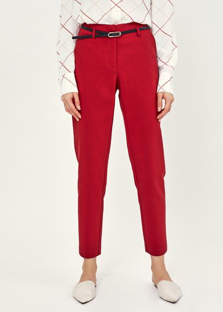 Укороченные брюки с ремешком - фото 2