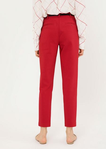 Укороченные брюки с ремешком - фото 4