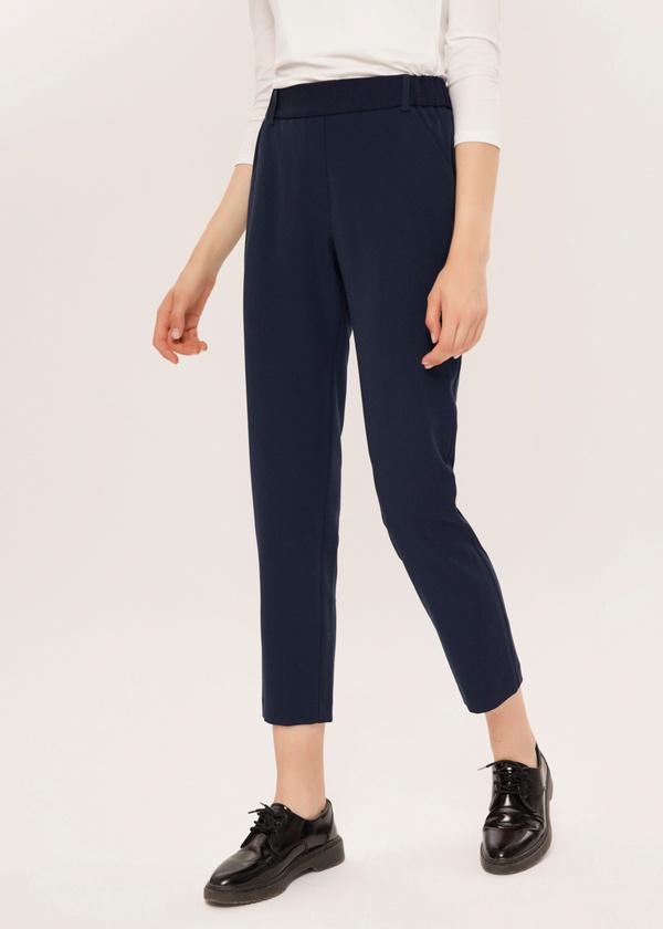 Укороченные брюки с эластичным поясом - фото 1