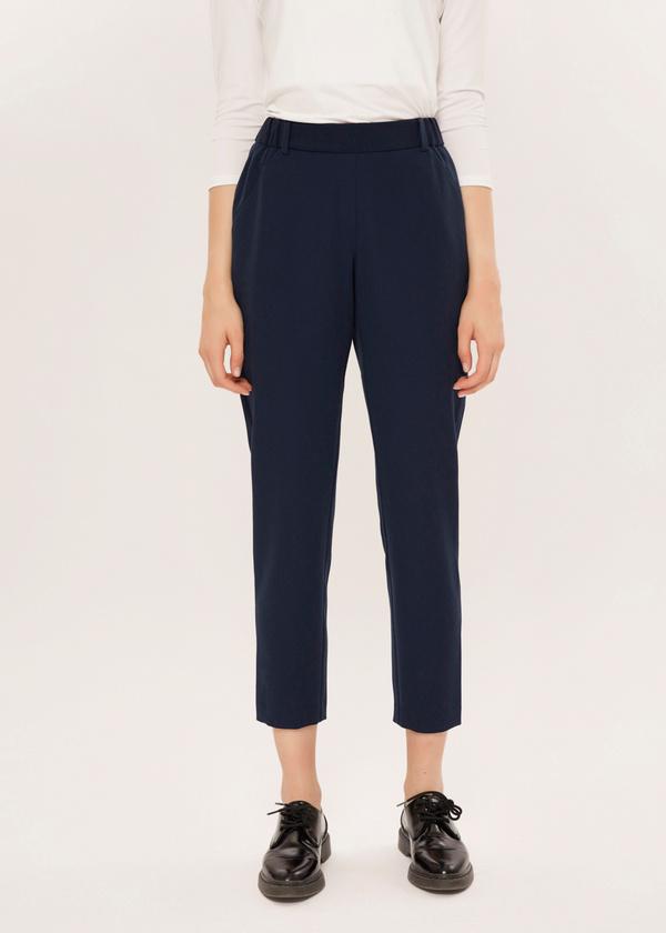 Укороченные брюки с эластичным поясом - фото 2