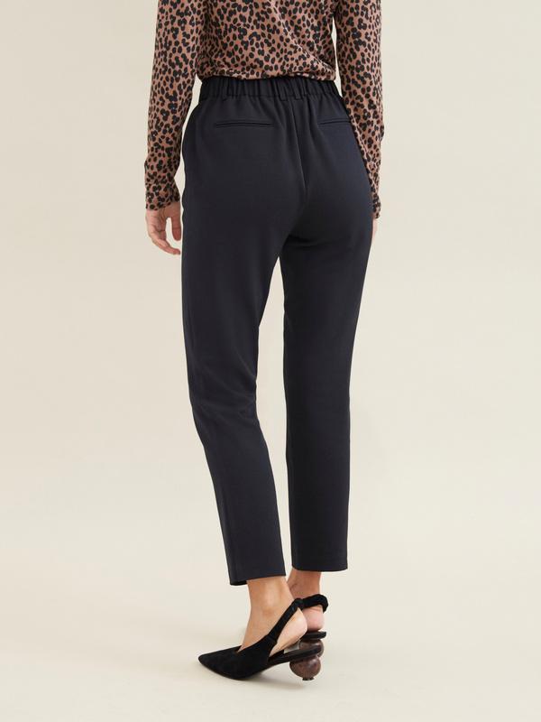 Укороченные брюки с эластичным поясом - фото 3