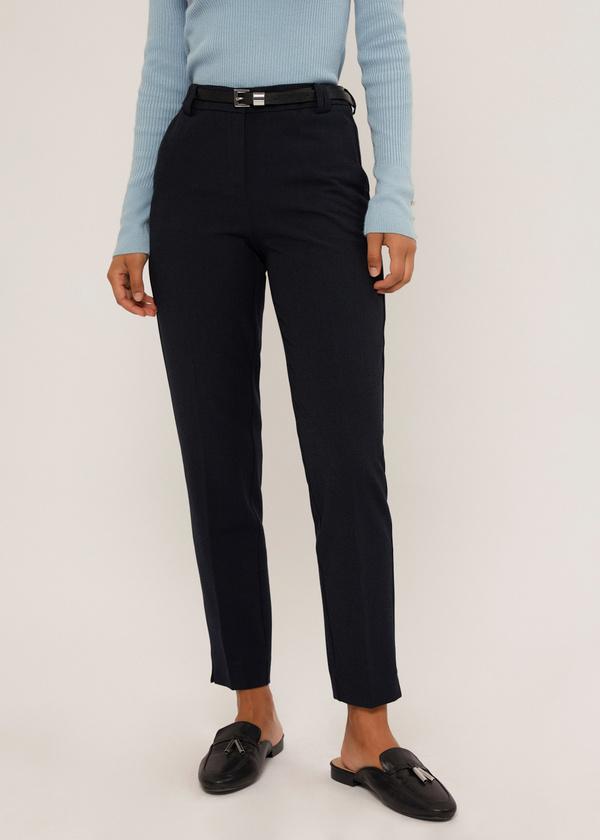 Зауженные брюки с ремешком - фото 1