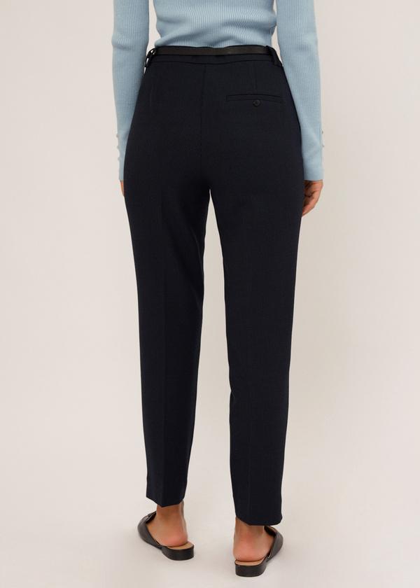 Зауженные брюки с ремешком - фото 3