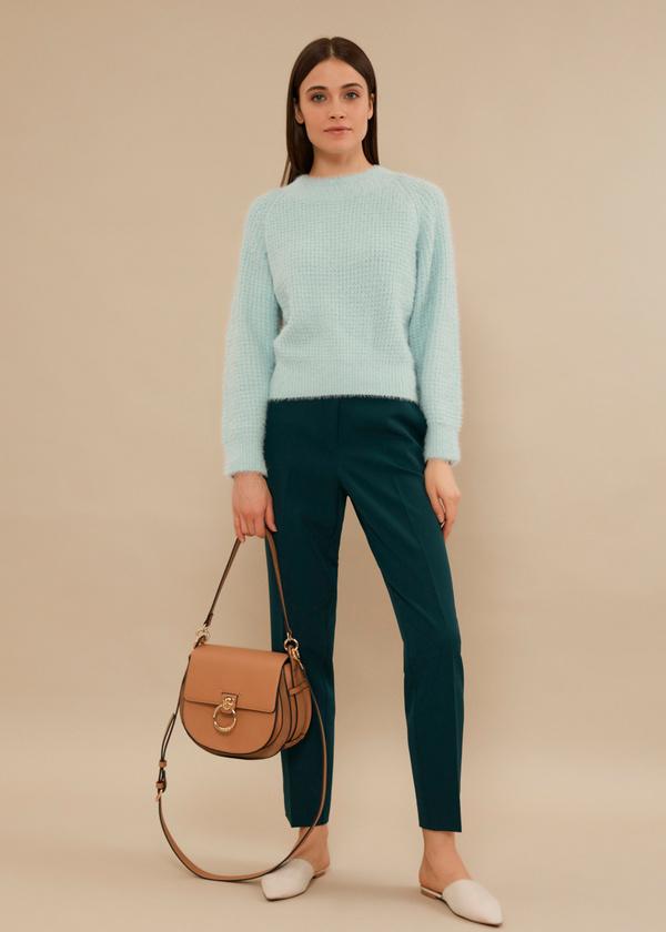 Укороченные брюки со стрелками и боковыми карманами - фото 1