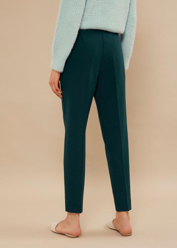 Укороченные брюки со стрелками и боковыми карманами - фото 3