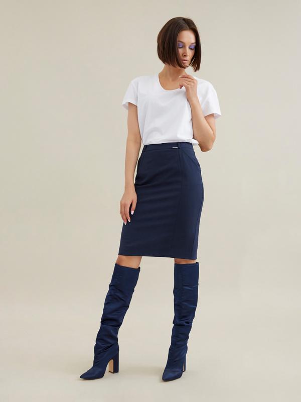 Облегающая юбка-миди - фото 1