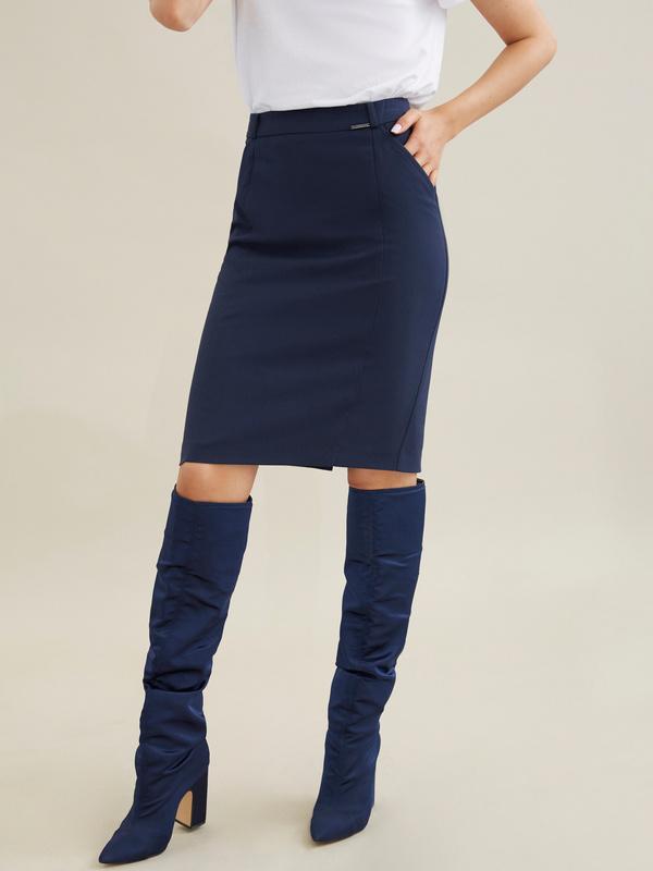 Облегающая юбка-миди - фото 2
