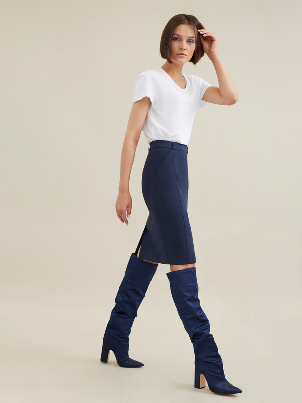 Облегающая юбка-миди - фото 6