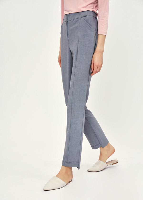 Зауженные брюки с асимметричным низом - фото 2