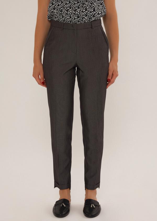 Укороченные брюки с асимметричным низом - фото 3
