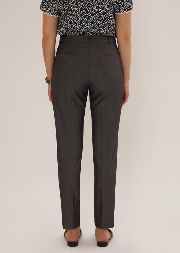 Укороченные брюки с асимметричным низом - фото 4