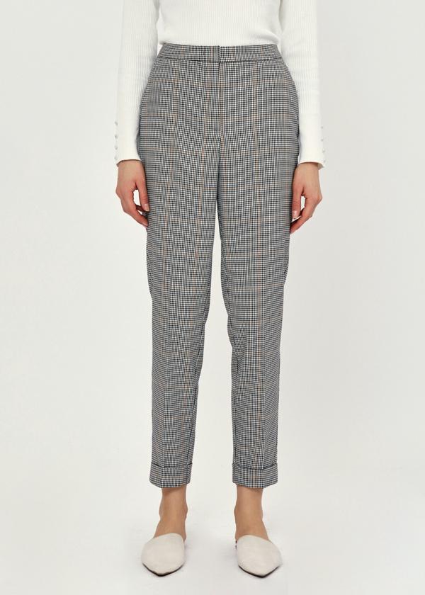 Укороченные брюки с подворотами - фото 2