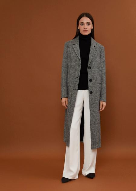 Пальто с врезными карманами - фото 1