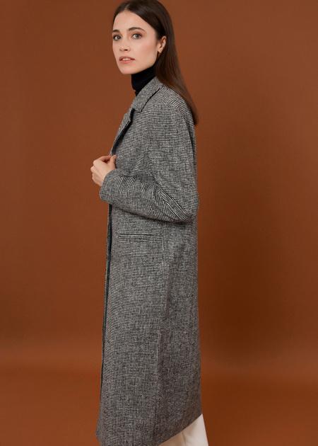 Пальто с врезными карманами - фото 3