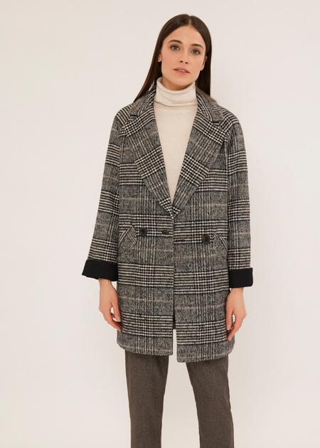 Двубортное пальто с карманами - фото 1