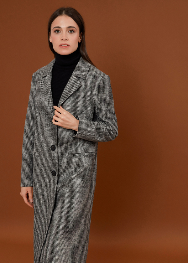 Пальто с врезными карманами - фото 2