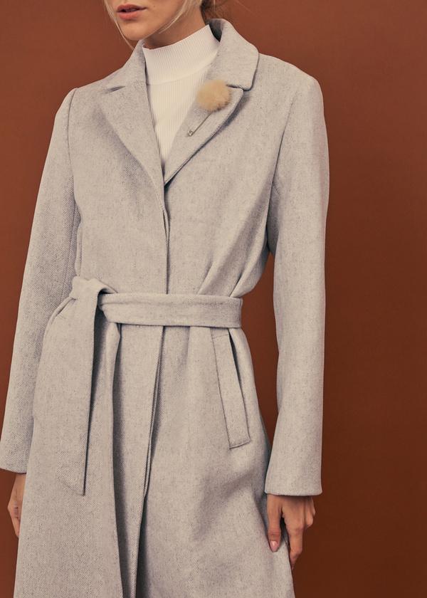 Пальто со съемной брошью - фото 2