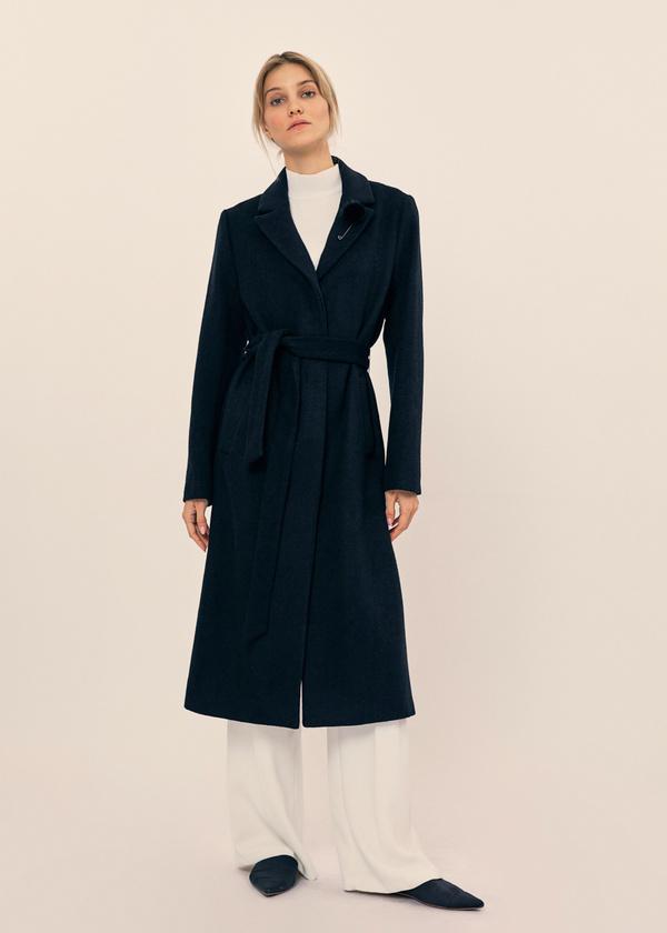 Пальто со съемной брошью - фото 1