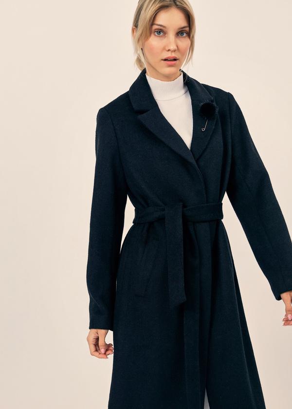Пальто со съемной брошью - фото 3