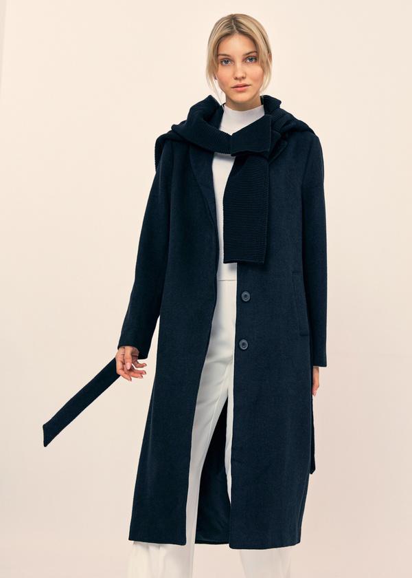 Пальто со съемной брошью - фото 5