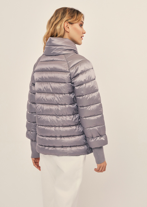 Стеганая куртка с манжетами - фото 2